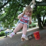 Tiller loved the swing. i wish I could bottle her laughter.
