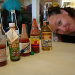 Hot Sauce Taste Test, Me, Beer