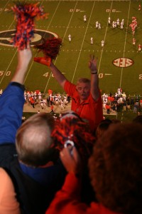 It would be third down, Georgia, and he would turn around and rile the Auburn crowd up.