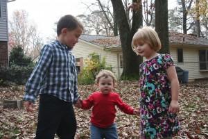 Leaf Hand-Holding Cousins