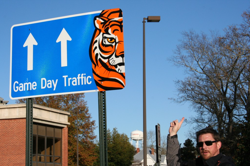 A Tiger of a Traffic Sign