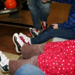 Bowling shoes don't look as cool as they used to. . .