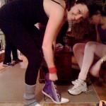 Jenn Puts on the Heels