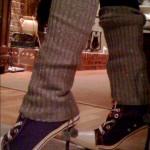 Heels with Leg Warmers