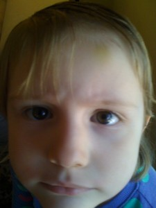 Then there was the day that Tills cut her own bangs.