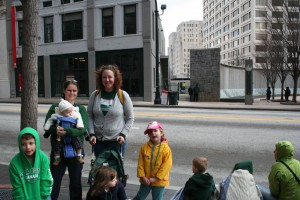 And we all went to the St. Patty's Day Parade and froze our asses off.