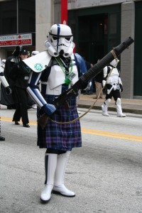 I still don't know what Storm Troopers have to do with St. Patty's, but I'm on board.