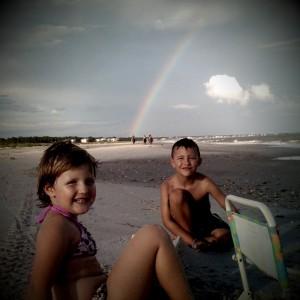 Kids Under Rainbow