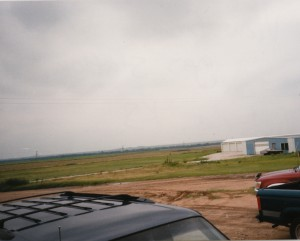 View from Gas Station, Victoria, KS. July 31st, 1998