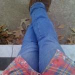 Frayed Edges over Jeans at Break