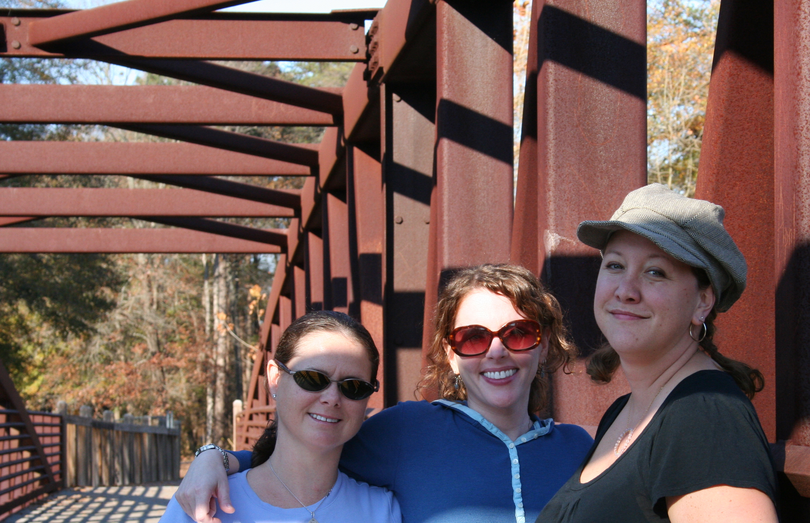 Me and the girls on the bridge.