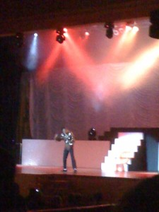 Michael Jackson show at our resort. OMG. It was so funny that I could only take two songs and then we had to leave.