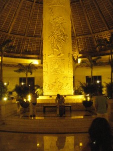 Lobby at the resort. Or one of the lobbies. There are three.