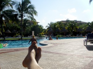My feet. At the Pool. Good stuff.