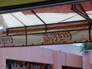 This little old-school Coca Cola awning at a restaurant at Tulum made me a little tiny bit homesick. And then I remembered i had no kids with me and i was in Mexico, and I got over it.