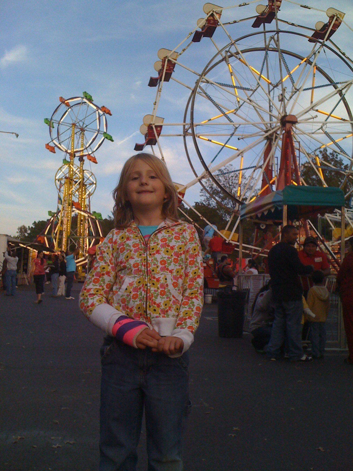 Tiller with the big ferris wheel and the little one, too.
