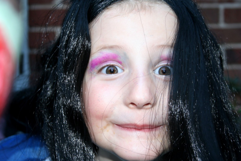 Tiller's fairy makeup was courtesy of Mama Fairy Productions. Tiller makes the best faces when she has makeup on.