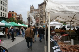 I had breakfast that i bought at Union Square Greenmarket. I ate it on a bench and watched schoolchildren.
