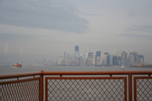 I drank coffee and rode the Staten Island Ferry just for the view. I didn't care that it was cloudy and was repaid with some sunny patches.