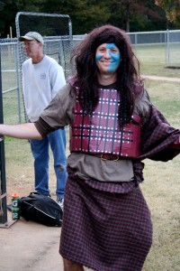 Thankful for the wonderful people who always step up to the plate and coach my kids' teams. This guy cracked us up by coming out to pitch the last inning of a v. close final game dressed as Braveheart. I am thankful for the weird and the absurd in people.