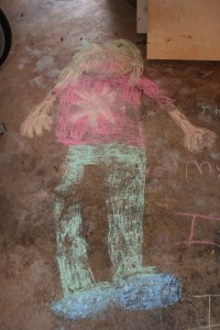 Thankful for my sweet, artistic girl, and the chalk drawings she does in the garage.