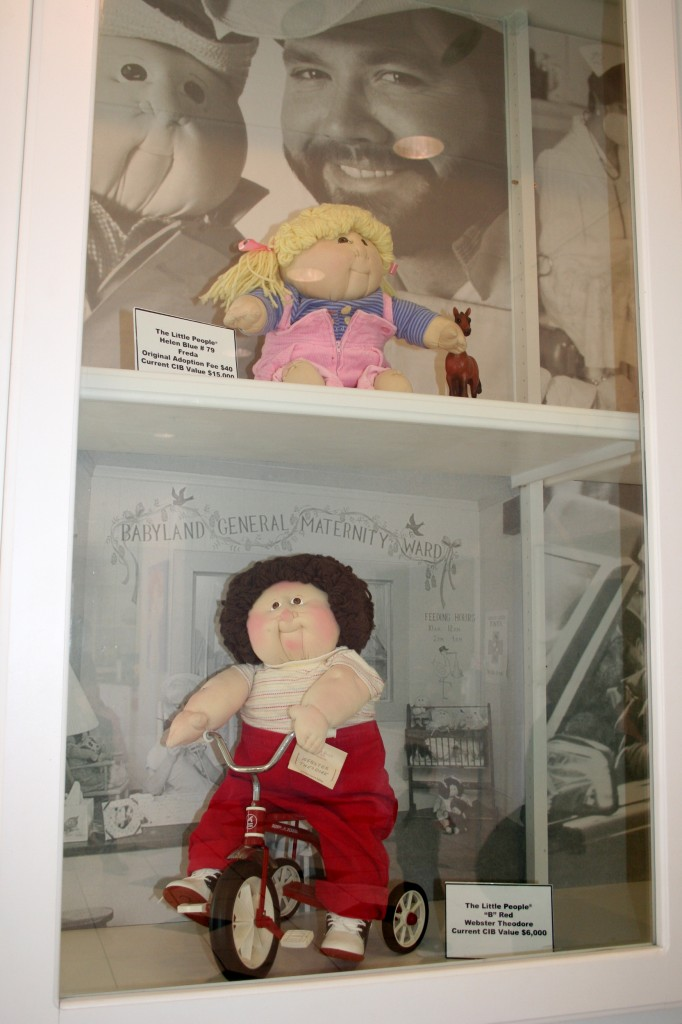 "I think I can speak for Lisa when i say that our favorite part was the displays of old cabbage patch kids. (Or, as we called them growing up, ""Adoption Dolls."") Some of them were worth $15,000!"