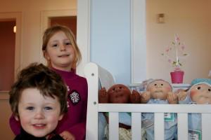 In the preemie nursery.