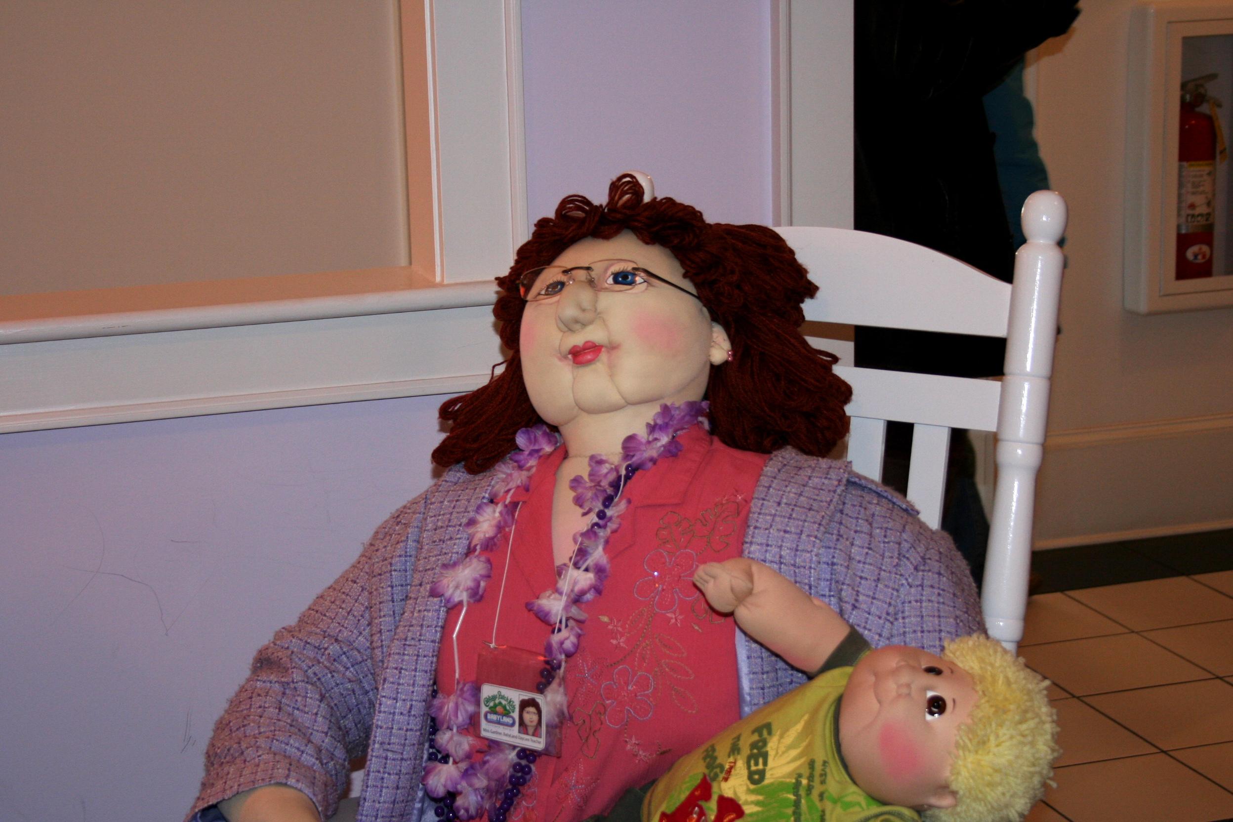 This is a creepy stuffed nurse doll.