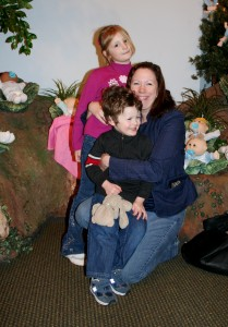 We had to get pictures. Lisa with the kids. It was very emotional for Lee and I.