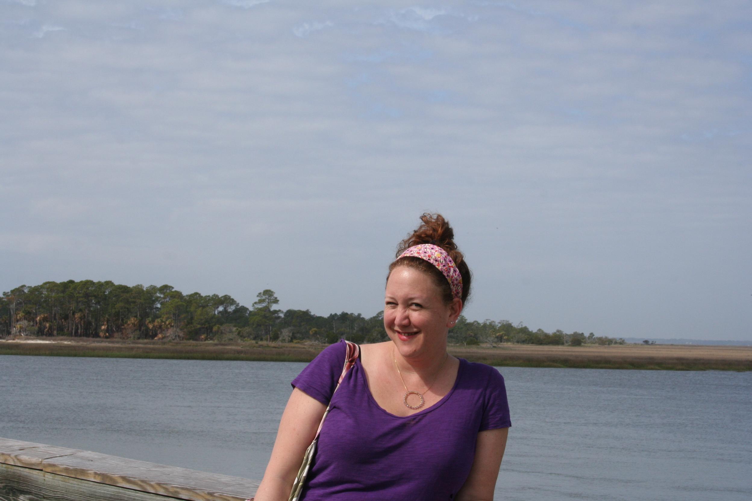 Don't I look happy to be having my photo made?