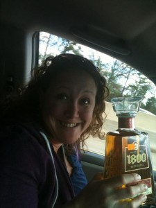 I didn't really drink the tequila while driving on 16, mom. I swear. We put the hurt on it later, though.