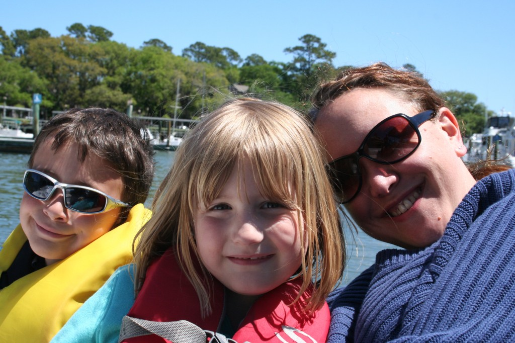 Me, kids, sun, boat, love.