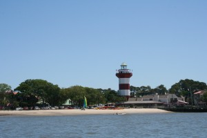 The Harbortown Lighthouse from the water.