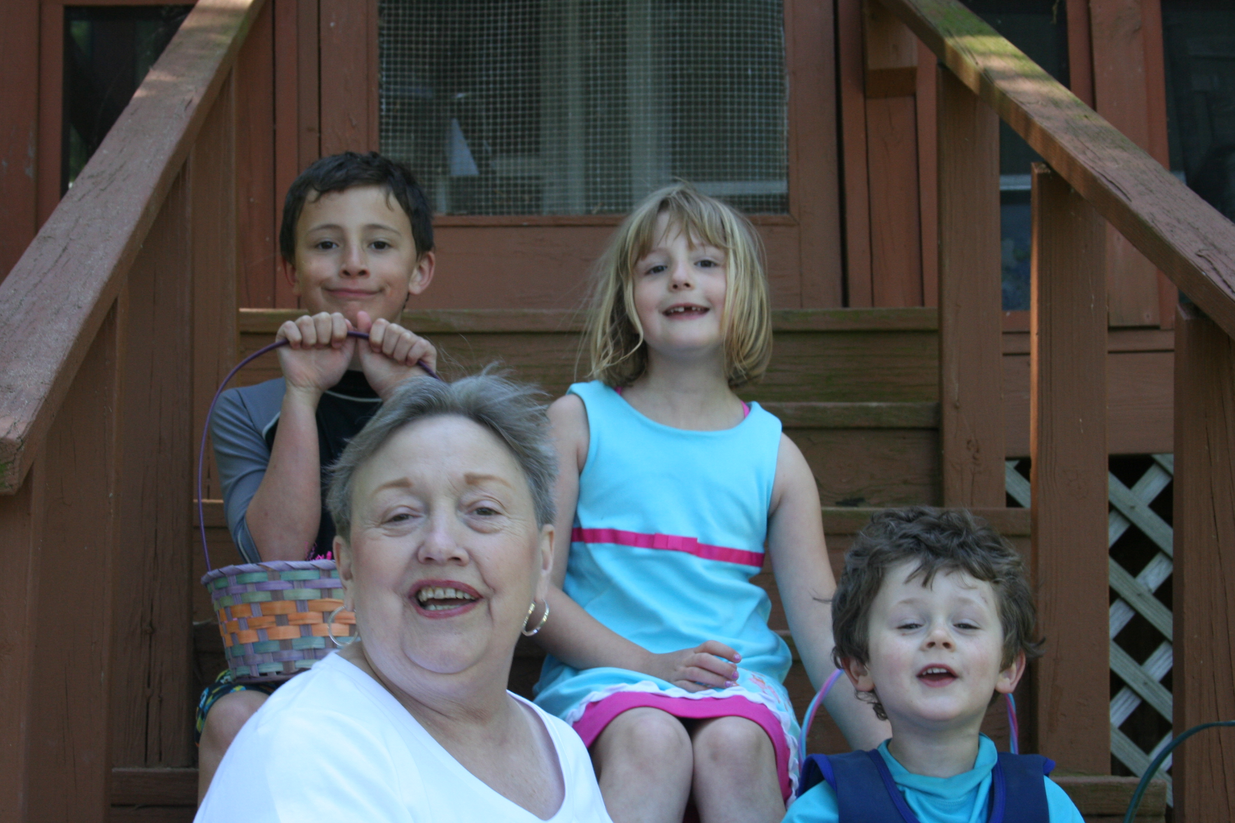Grandma and the kids.