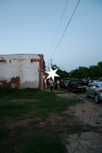 Outside the Railyard, there were these big moravian stars. Love them.