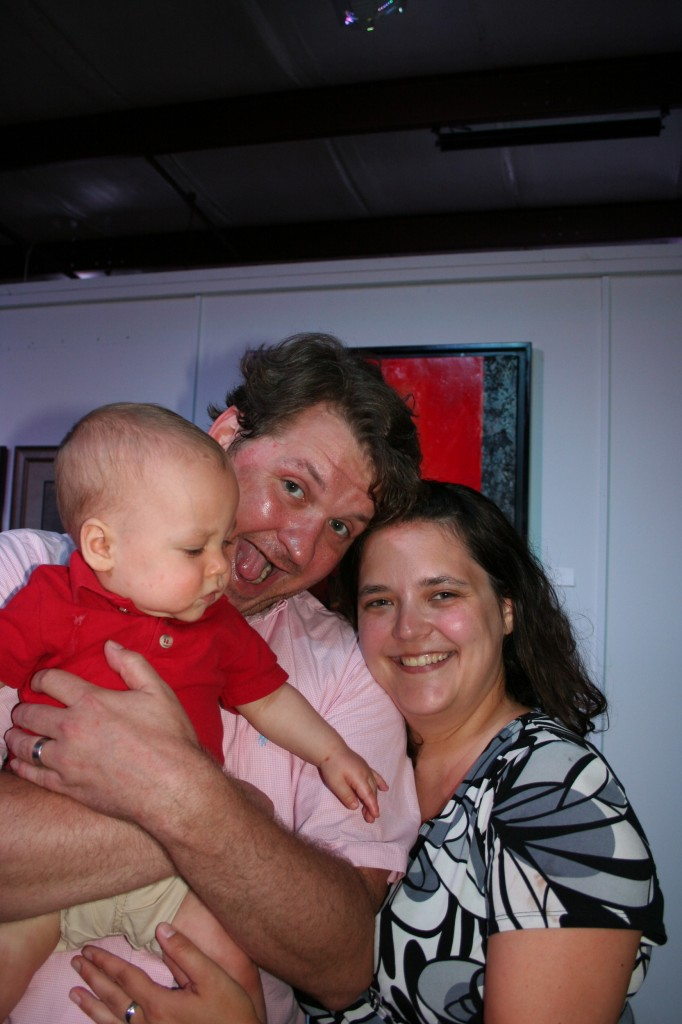 Scott, Jess, and Ash. First time meeting the little man. I got to hold him. Ash, not Scott.