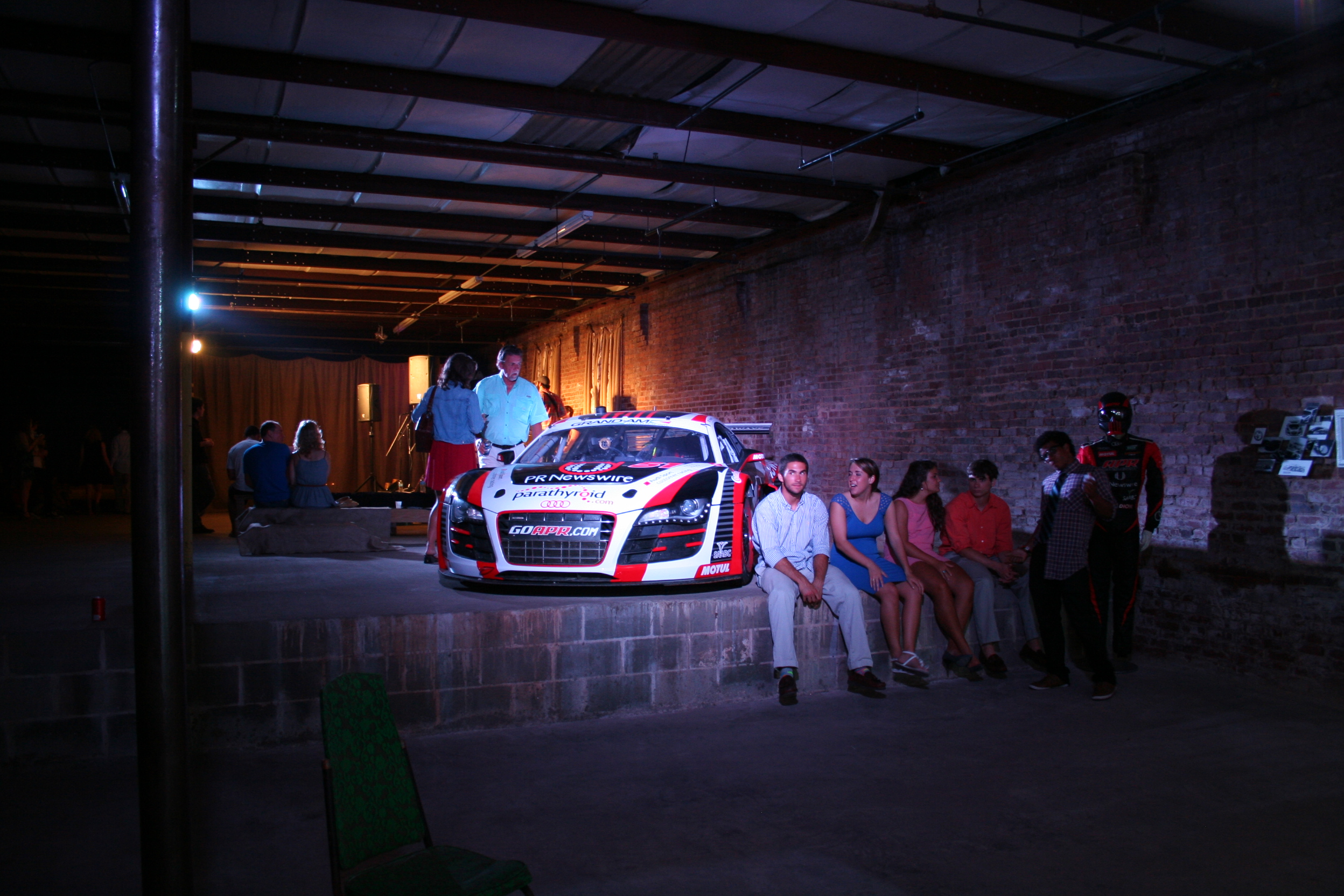 Not sure why there was a racecar in the middle of the warehouse, but i thought it was funny.