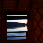 Lake view from yurt window.