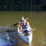 Boys in canoe