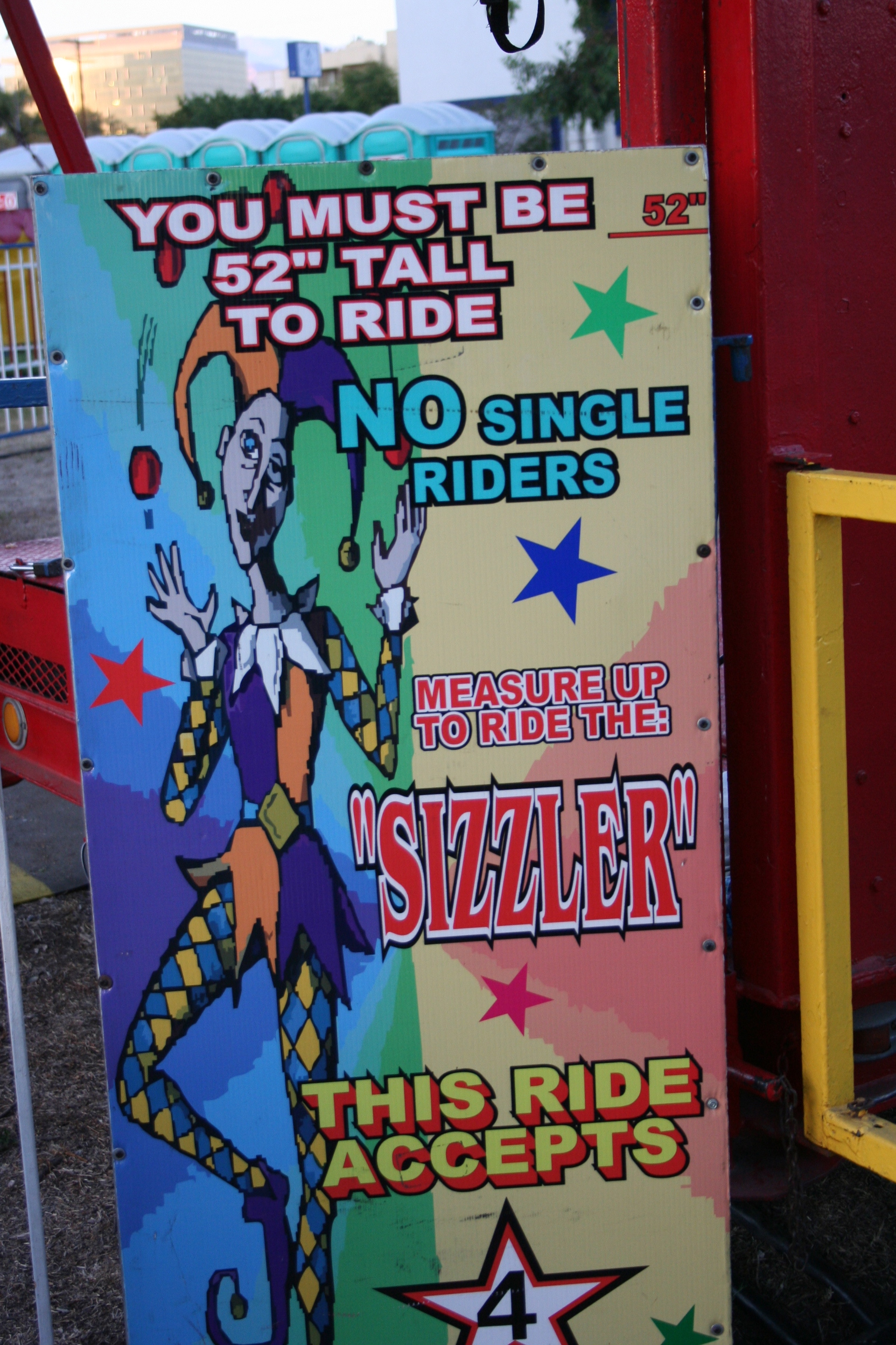 "Then we stopped at this random fair. We love random fairs. One of the rides was The Sizzler. Todd and I said a lot of ""Jenny SIZZLER!"""