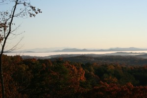 Morning mist over Blue Ridge.