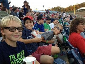 (l-r) Jonah, Milo, Jack, Ben, Aidan, and Rollie, at the Gwinnett Braves.