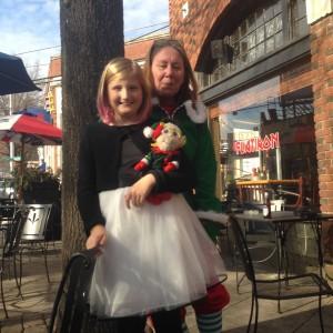Tiller with Sheila the Elf, at Flatiron. 2015
